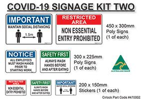 Covid-19 Signs and Stickers