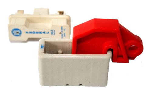 Circuit Breaker Lockouts : UFL-2 Universal Lockout Device for Fuse on panel lockout, transformer lockout, electrical plug lockout, switch lockout, hose bibb lockout,
